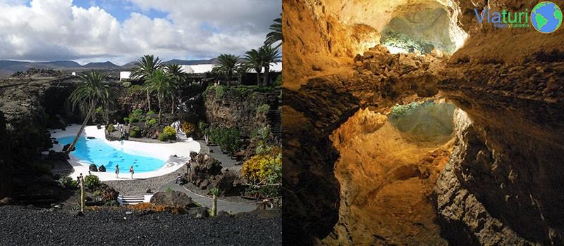 Jameos del Agua y Cueva de los Verdes