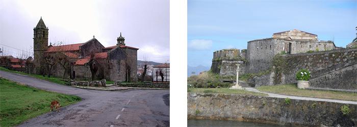 Iglesia de Nosa Señora das Areas y castillo san carlos