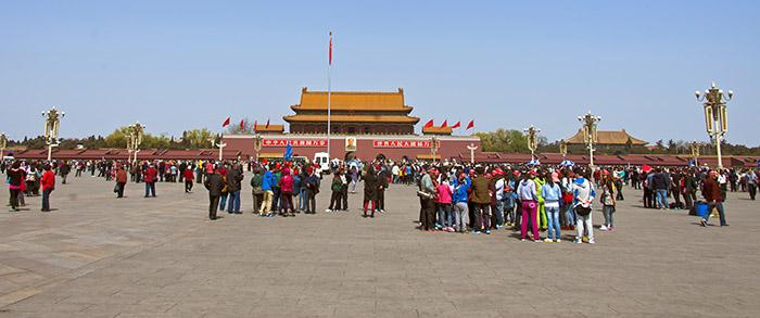 Tiananmen plaza turistas