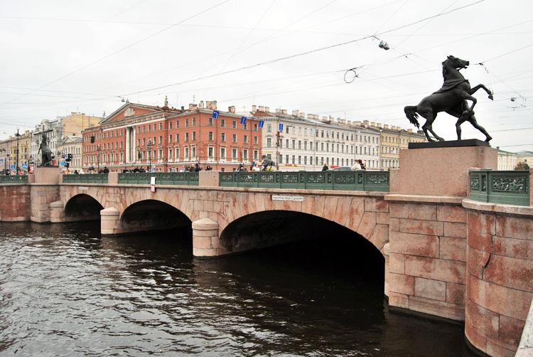 Potselúev Most puente de los besos san petersburgo