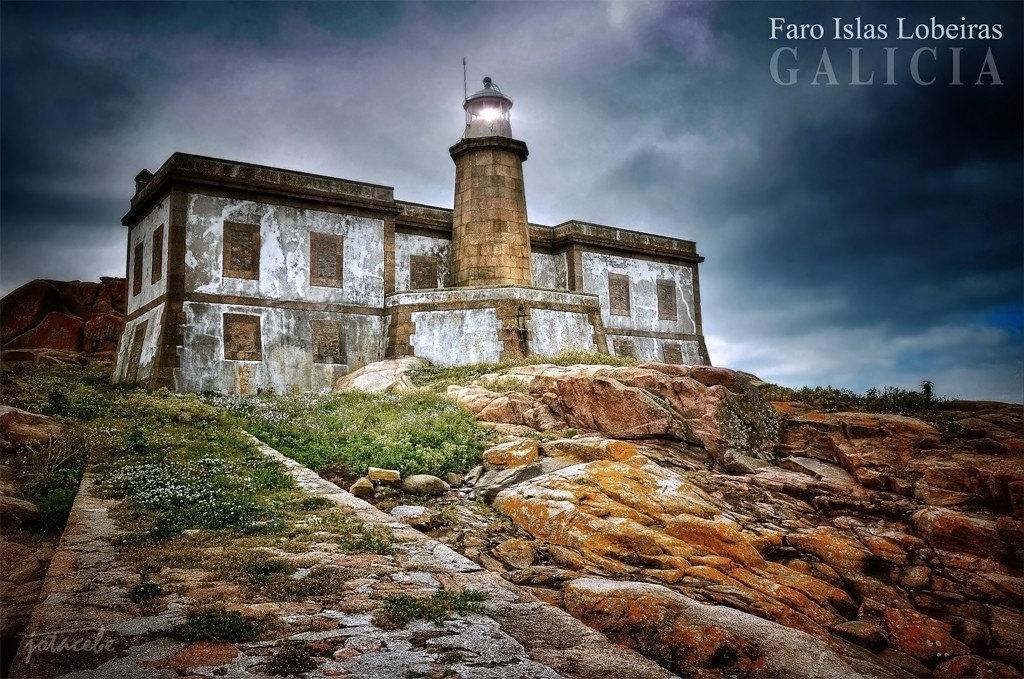 Faro Islas Lobeiras en Corcubion