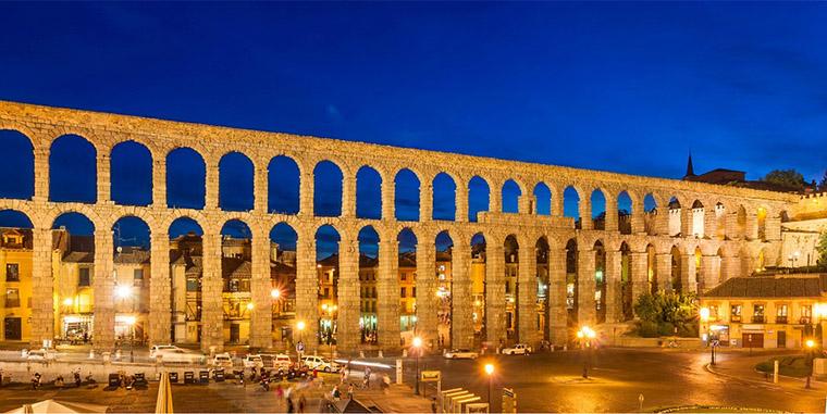 el famoso acueducto de Segovia