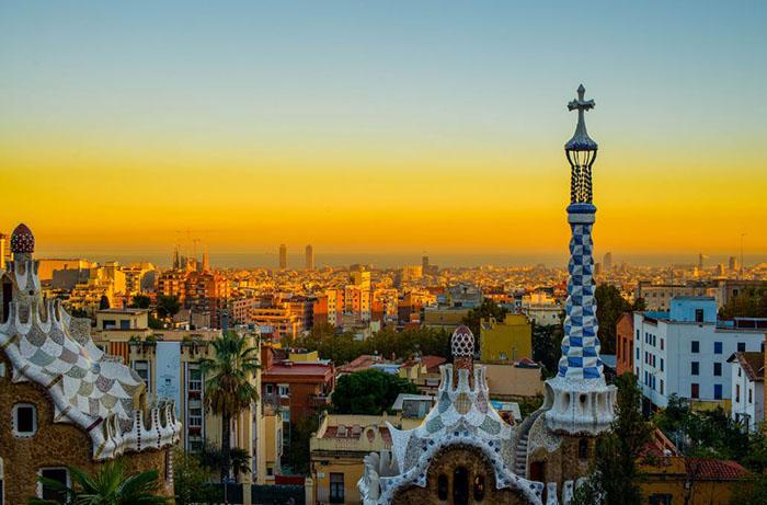 Atardecer desde el parque Gaudi