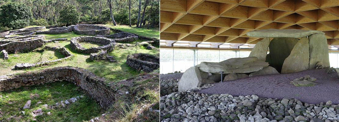 ver costa dolmen dombate castro borneiro