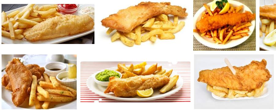 Fish and chips tipico de inglaterra