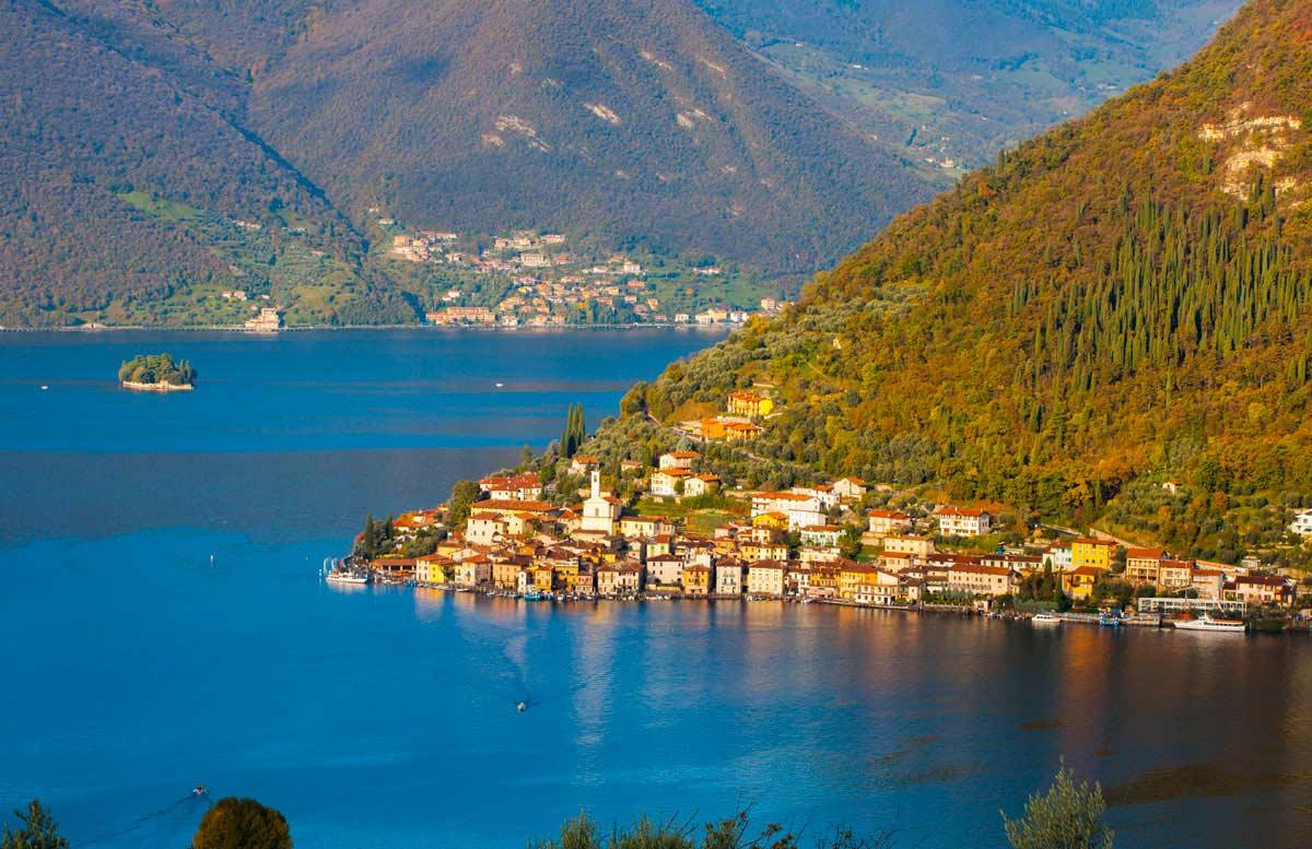 Monte Isola pueblos costeros de italia