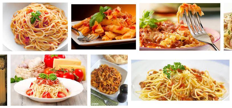 Pasta italiana comida tipica