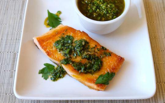 comida canadiense Salmon y arctic char