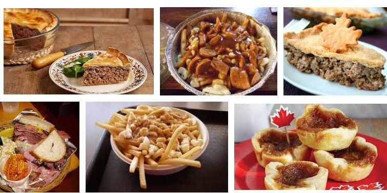 comidas de canada