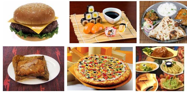 comidas tipicas paises del mundo