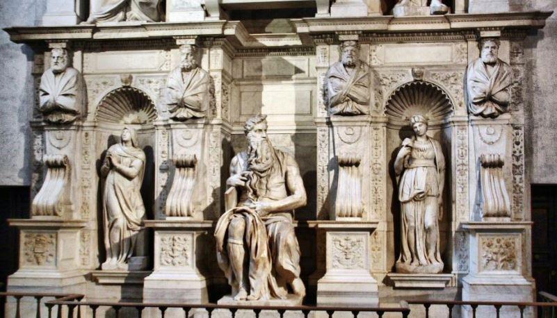 el moises de miguel angel esculturas famosas griegas