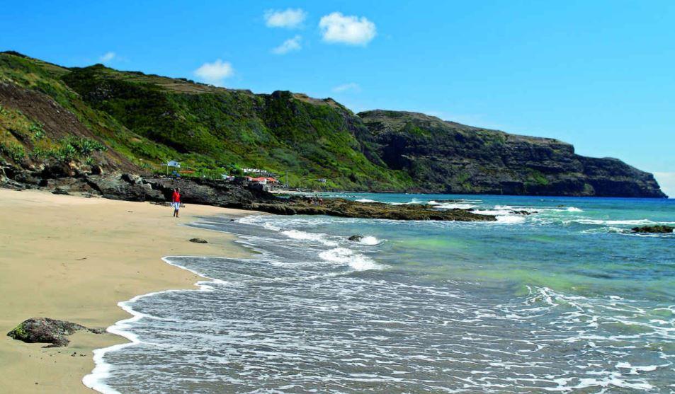 playa santa maria en las Azores
