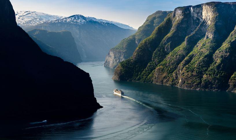 Aurlandsfjord fiordos noruegos