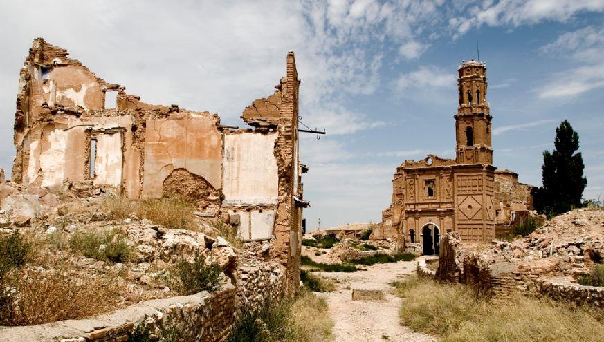 Belchite pueblos abandonados españa por provincias