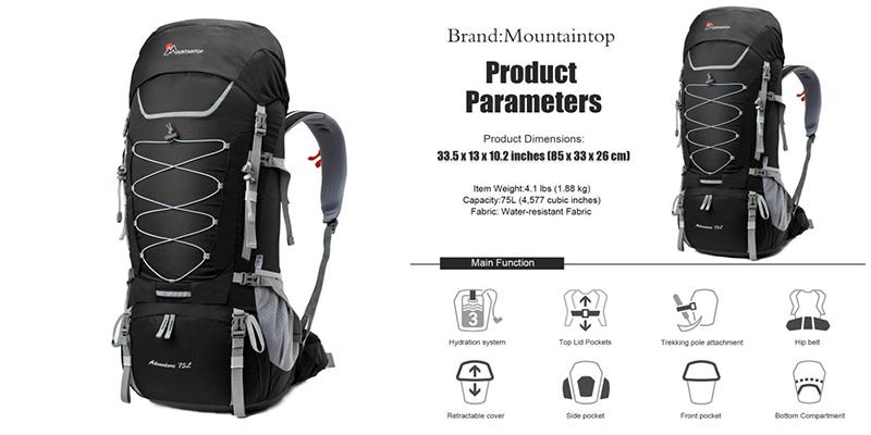 Mountaintop 75 litros